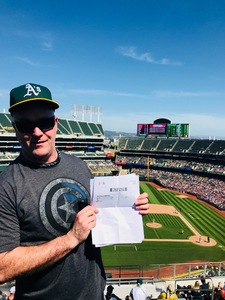 Anthony attended Oakland Athletics vs. Boston Red Sox - MLB on Apr 22nd 2018 via VetTix