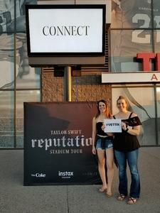 Clair attended Taylor Swift Reputation Stadium Tour on May 8th 2018 via VetTix