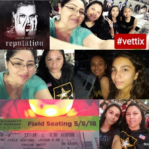 Patricia attended Taylor Swift Reputation Stadium Tour on May 8th 2018 via VetTix