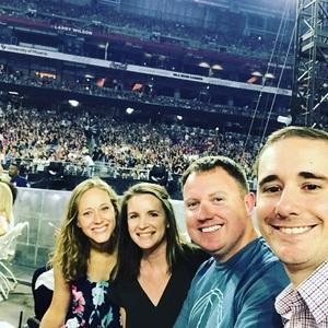 TJ attended Taylor Swift Reputation Stadium Tour on May 8th 2018 via VetTix