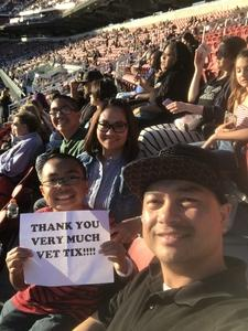 Anthony attended Taylor Swift Reputation Stadium Tour on May 11th 2018 via VetTix
