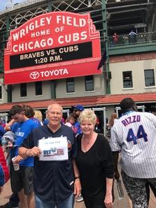 Douglas attended Chicago Cubs vs. Atlanta Braves - MLB on May 14th 2018 via VetTix