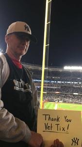 Roy attended New York Yankees vs. Boston Red Sox - MLB on May 9th 2018 via VetTix