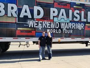 Chad attended Brad Paisley - Weekend Warrior World Tour With Dustin Lynch, Chase Bryant and Lindsay Ell on Apr 26th 2018 via VetTix