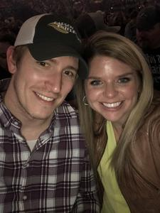 Allison attended Brad Paisley - Weekend Warrior World Tour With Dustin Lynch, Chase Bryant and Lindsay Ell on Apr 26th 2018 via VetTix