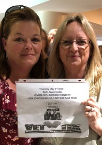 Stephen attended Wmmr 50th Birthday Concert: Bon Jovi This House is not for Sale Tour on May 3rd 2018 via VetTix