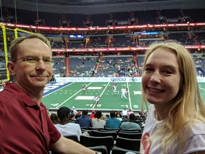 Alan attended Washington Valor vs. Albany Empire - AFL on May 11th 2018 via VetTix