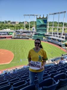 Dawn attended Kansas City Royals vs. Oakland Athletics - MLB on Jun 3rd 2018 via VetTix