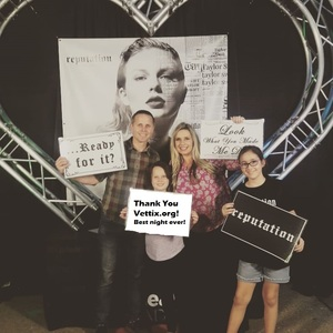 Nathaniel attended Taylor Swift Reputation Stadium Tour on May 8th 2018 via VetTix