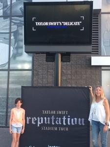 Christine attended Taylor Swift Reputation Stadium Tour on May 8th 2018 via VetTix