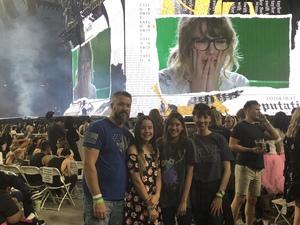 Aaron attended Taylor Swift Reputation Stadium Tour on May 8th 2018 via VetTix