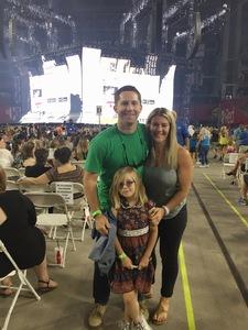 Tom attended Taylor Swift Reputation Stadium Tour on May 8th 2018 via VetTix