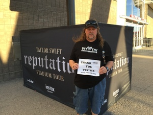 Walter attended Taylor Swift Reputation Stadium Tour on May 8th 2018 via VetTix