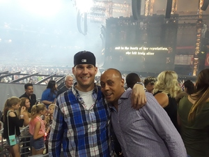 Christopher attended Taylor Swift Reputation Stadium Tour on May 8th 2018 via VetTix