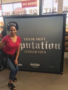 Sheila attended Taylor Swift Reputation Stadium Tour on May 8th 2018 via VetTix