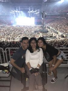 Miguel attended Taylor Swift Reputation Stadium Tour on May 8th 2018 via VetTix