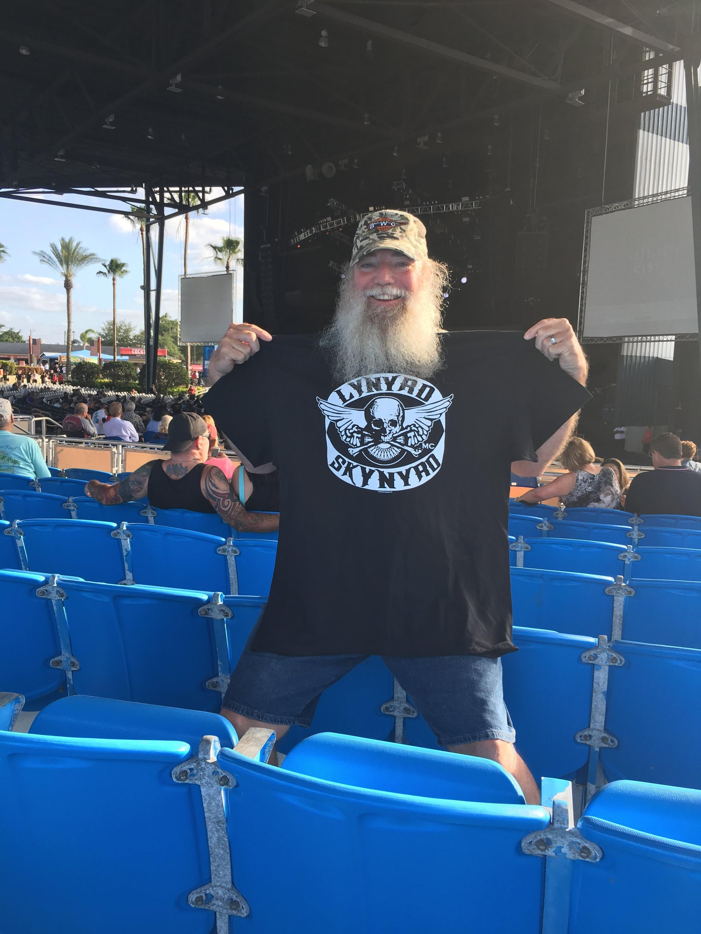 e24e40ea7b Daniel attended Lynyrd Skynyrd: Last of the Street Survivors on May 4th  2018 via VetTix
