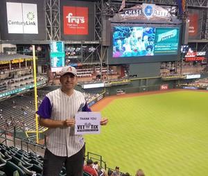 Manuel attended Arizona Diamondbacks vs. Washington Nationals - MLB on May 10th 2018 via VetTix