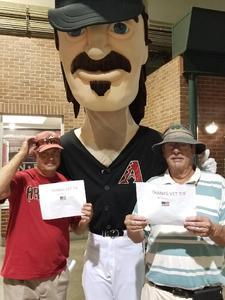 Edmund attended Arizona Diamondbacks vs. Washington Nationals - MLB on May 10th 2018 via VetTix