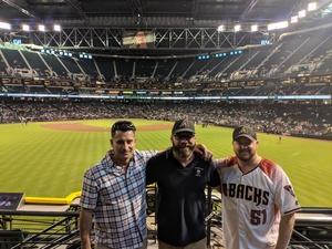 Brian attended Arizona Diamondbacks vs. Washington Nationals - MLB on May 10th 2018 via VetTix