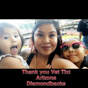 Kalandra attended Arizona Diamondbacks vs. Washington Nationals - MLB on May 13th 2018 via VetTix