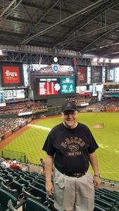 Ernest attended Arizona Diamondbacks vs. Washington Nationals - MLB on May 13th 2018 via VetTix