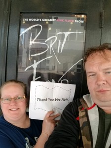 Jenica attended Brit Floyd Eclipse World Tour 2018 '45 Years of the Dark Side of the Moon' on May 10th 2018 via VetTix