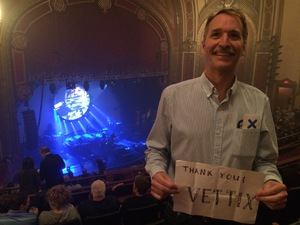 David attended Brit Floyd Eclipse World Tour 2018 '45 Years of the Dark Side of the Moon' on May 10th 2018 via VetTix