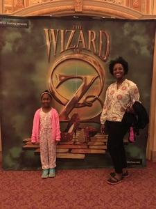 Roshaun attended The Wizard of Oz - Opening Night on May 8th 2018 via VetTix