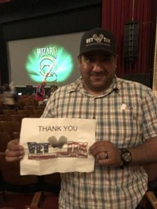 Julio attended The Wizard of Oz on May 9th 2018 via VetTix