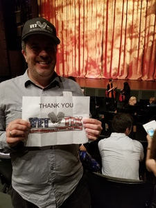 Eric attended The Wizard of Oz on May 9th 2018 via VetTix