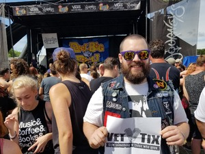 Brad attended Vans Warped Tour 2018 on Jul 20th 2018 via VetTix