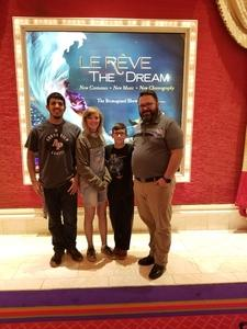 Jaron attended Le Reve - the Dream on May 7th 2018 via VetTix