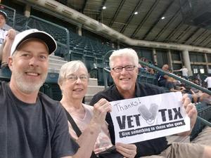 Ken attended Arizona Diamondbacks vs. Milwaukee Brewers- MLB on May 14th 2018 via VetTix