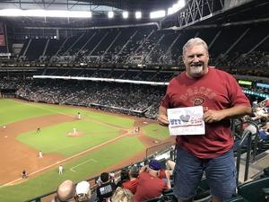 James attended Arizona Diamondbacks vs. Milwaukee Brewers- MLB on May 14th 2018 via VetTix