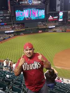 Reza attended Arizona Diamondbacks vs. Milwaukee Brewers - MLB on May 15th 2018 via VetTix