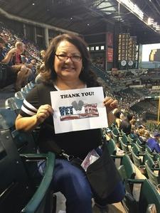jonathan attended Arizona Diamondbacks vs. Milwaukee Brewers - MLB on May 15th 2018 via VetTix