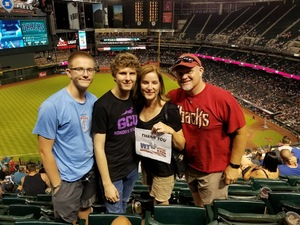 Ward attended Arizona Diamondbacks vs. Milwaukee Brewers - MLB on May 15th 2018 via VetTix