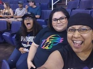 Christina attended Phoenix Mercury vs. Seattle Storm - WNBA on May 12th 2018 via VetTix