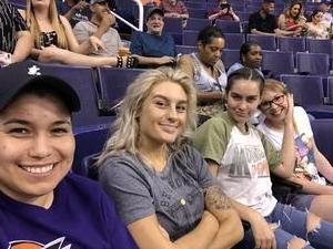 ANTONIA attended Phoenix Mercury vs. Seattle Storm - WNBA on May 12th 2018 via VetTix