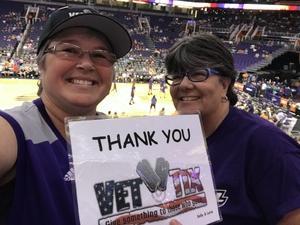 Kelly attended Phoenix Mercury vs. Washington Mystics - WNBA on May 30th 2018 via VetTix