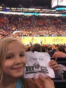 Linda attended Phoenix Mercury vs. Chicago Sky - WNBA on Jun 8th 2018 via VetTix