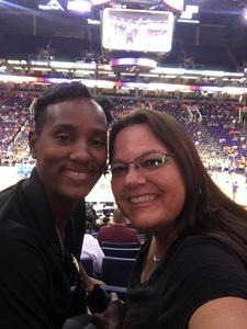 Kimberly attended Phoenix Mercury vs. Chicago Sky - WNBA on Jun 8th 2018 via VetTix