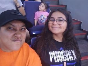Christina attended Phoenix Mercury vs. Chicago Sky - WNBA on Jun 8th 2018 via VetTix