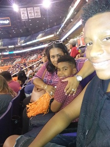 Ariel attended Phoenix Mercury vs. Minnesota Lynx - WNBA on Jun 22nd 2018 via VetTix