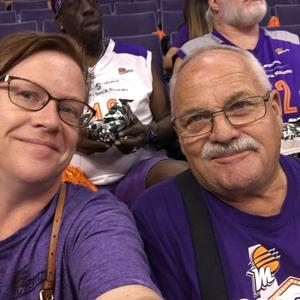 Stacey attended Phoenix Mercury vs. Minnesota Lynx - WNBA on Jun 22nd 2018 via VetTix