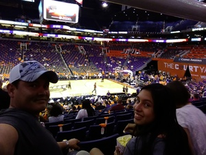 Rodolfo attended Phoenix Mercury vs. Minnesota Lynx - WNBA on Jun 22nd 2018 via VetTix