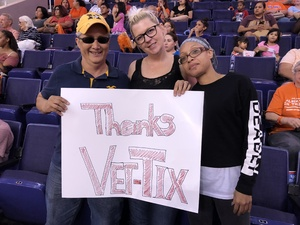 Leilani attended Phoenix Mercury vs. Minnesota Lynx - WNBA on Jun 22nd 2018 via VetTix