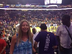 Christine attended Phoenix Mercury vs. Connecticut Sun - WNBA on Jul 5th 2018 via VetTix
