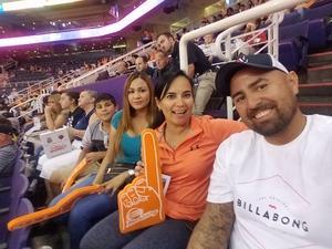 Sayda attended Phoenix Mercury vs. Chicago Sky - WNBA on Jul 25th 2018 via VetTix